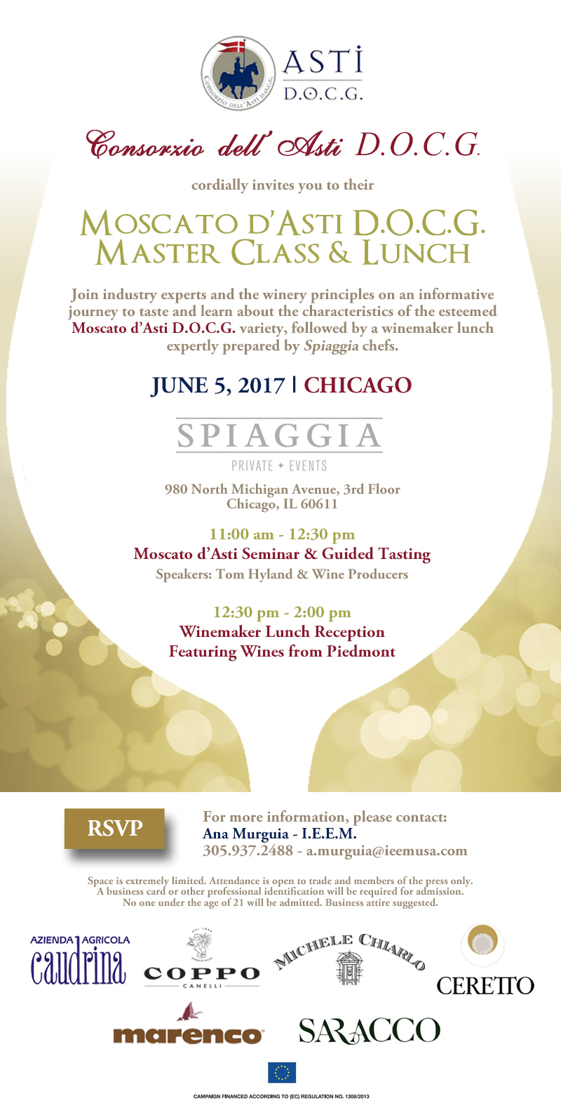 Moscato dAsti Invitation Chicago