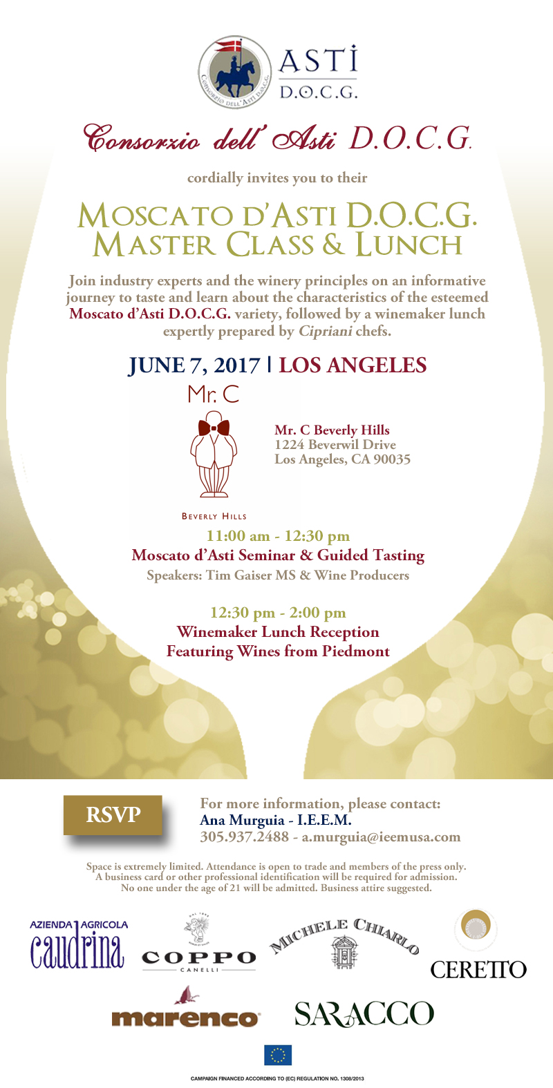 Moscato dAsti Invitation Los Angeles