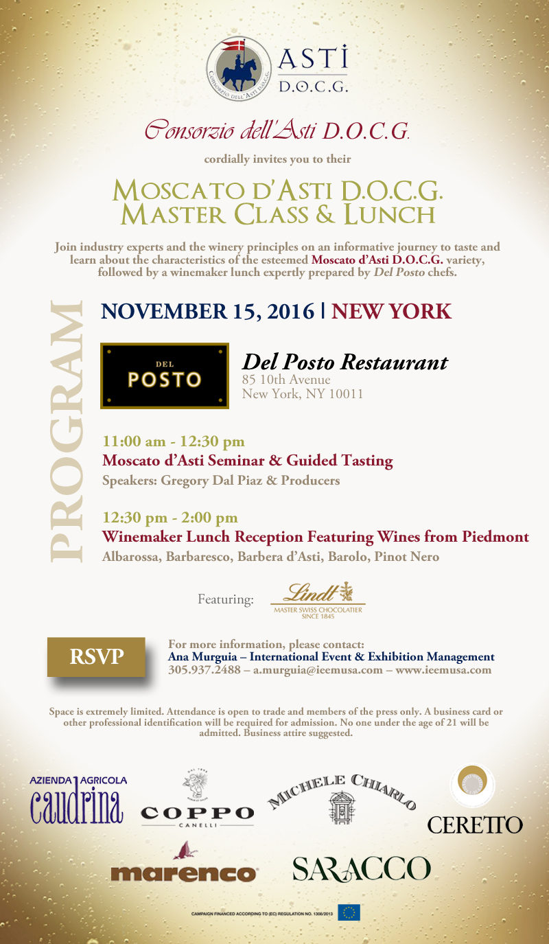 Moscato dAsti November Invitation NY
