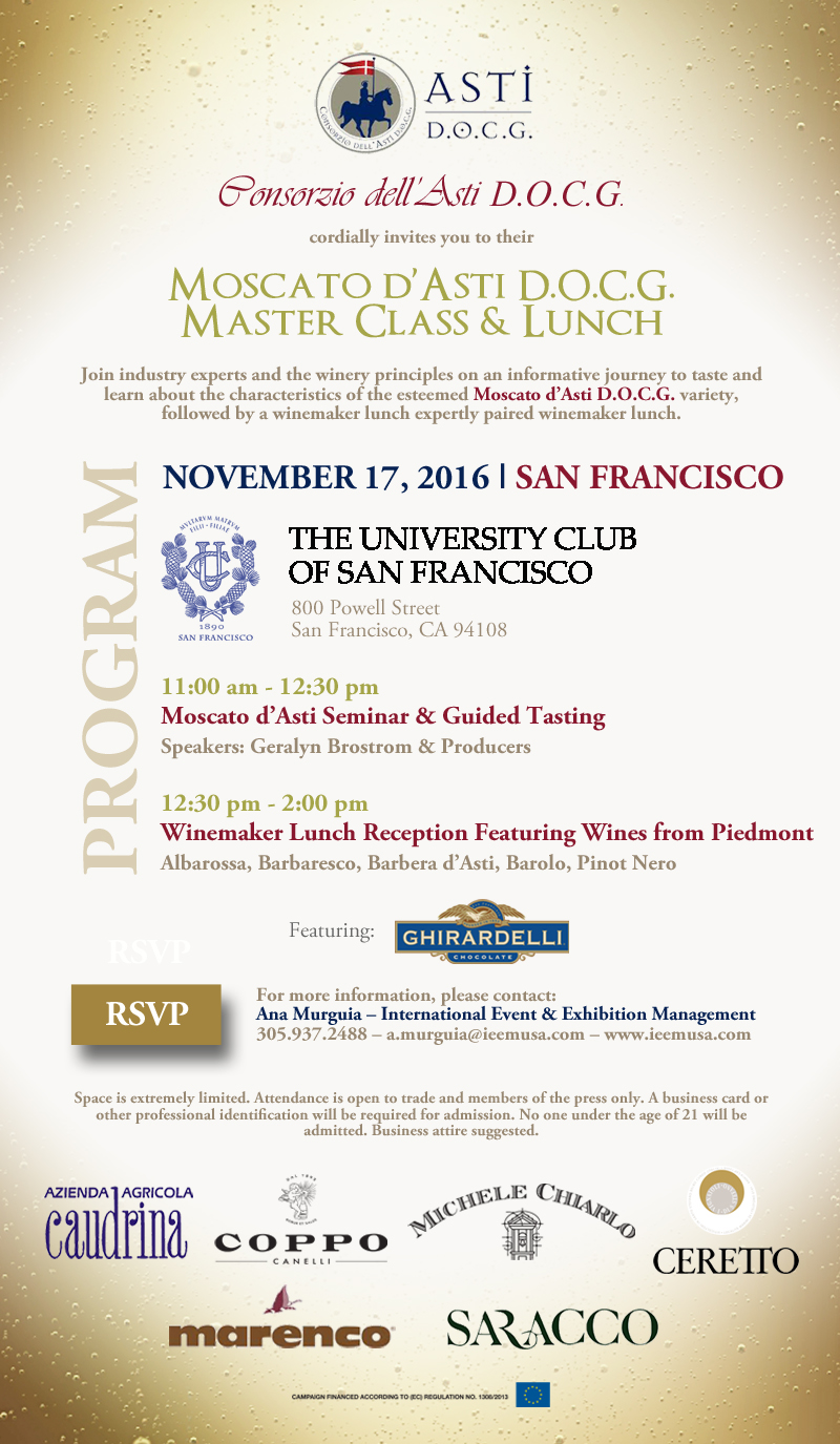 Moscato dAsti November Invitation SF